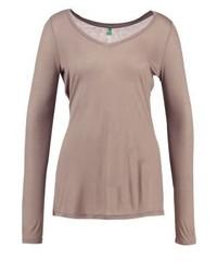 T-shirt à manche longue brun clair Benetton