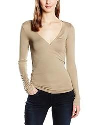 T-shirt à manche longue brun clair Blaumax