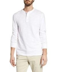 T-shirt à manche longue et col boutonné blanc