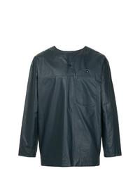 T-shirt à manche longue et col boutonné bleu marine Phoebe English
