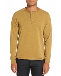 T-shirt à manche longue et col boutonné marron clair