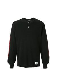 T-shirt à manche longue et col boutonné noir Hysteric Glamour