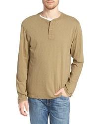 T-shirt à manche longue et col boutonné olive