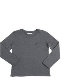 T-shirt à manche longue gris foncé
