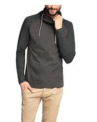 T-shirt à manche longue gris foncé Esprit
