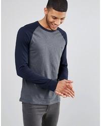 T-shirt à manche longue gris foncé French Connection