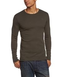T-shirt à manche longue gris foncé G-Star RAW