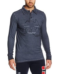 T-shirt à manche longue gris foncé Geographical Norway