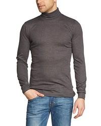 T-shirt à manche longue gris foncé Trigema