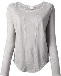 T shirt a manche longue gris original 1286763