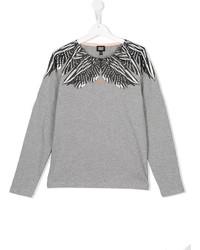 T-shirt à manche longue gris Armani Junior