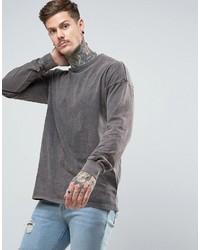 T-shirt à manche longue gris Asos