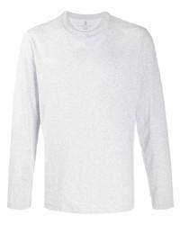 T-shirt à manche longue gris Brunello Cucinelli