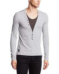 T-shirt à manche longue gris Carisma