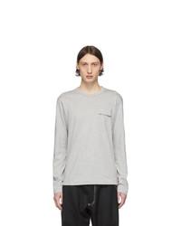 T-shirt à manche longue gris Comme Des Garcons SHIRT