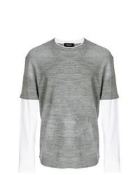T-shirt à manche longue gris DSQUARED2