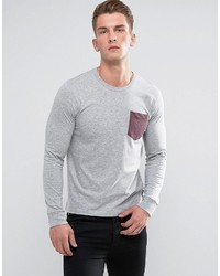 T-shirt à manche longue gris French Connection