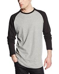 T-shirt à manche longue gris Jack & Jones