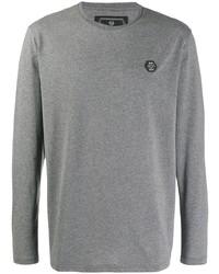 T-shirt à manche longue gris Philipp Plein