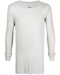 T-shirt à manche longue gris Rick Owens