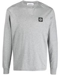 T-shirt à manche longue gris Stone Island