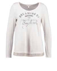 T-shirt à manche longue imprimé beige Esprit