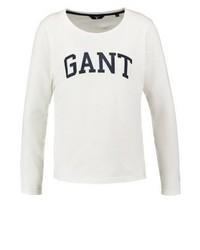 T-shirt à manche longue imprimé beige GANT