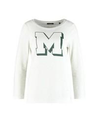 T-shirt à manche longue imprimé beige Marc O'Polo