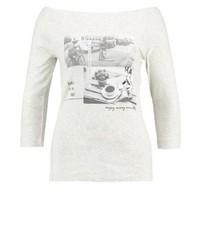 T-shirt à manche longue imprimé beige s.Oliver