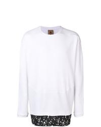 T-shirt à manche longue imprimé blanc et noir Nike