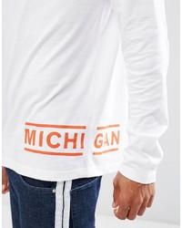 T-shirt à manche longue imprimé blanc Asos