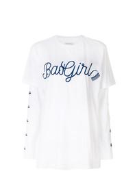 T-shirt à manche longue imprimé blanc Chiara Ferragni