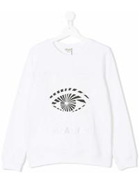 T-shirt à manche longue imprimé blanc Kenzo