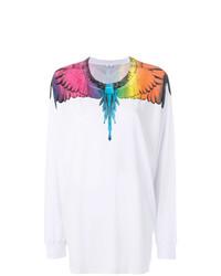 T-shirt à manche longue imprimé blanc Marcelo Burlon County of Milan