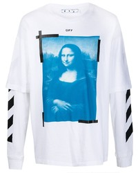T-shirt à manche longue imprimé blanc Off-White