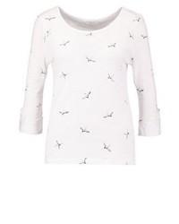 T-shirt à manche longue imprimé blanc Only