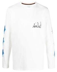 T-shirt à manche longue imprimé blanc Paul Smith