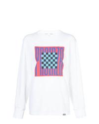 T-shirt à manche longue imprimé blanc Proenza Schouler