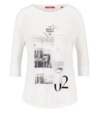 T-shirt à manche longue imprimé blanc s.Oliver