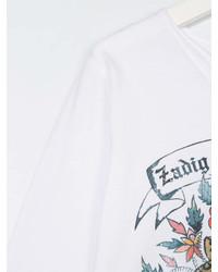 T-shirt à manche longue imprimé blanc