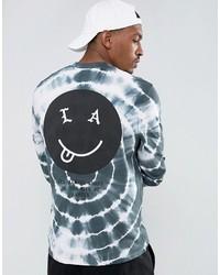 T-shirt à manche longue imprimé bleu clair Asos
