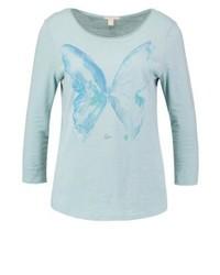 T-shirt à manche longue imprimé bleu clair Esprit