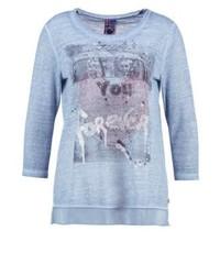 T-shirt à manche longue imprimé bleu clair Frieda & Freddies
