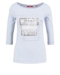 T-shirt à manche longue imprimé bleu clair s.Oliver