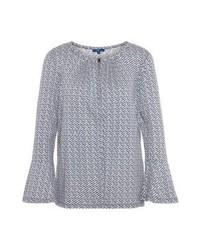 T-shirt à manche longue imprimé bleu clair Tom Tailor