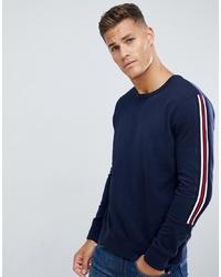 T-shirt à manche longue imprimé bleu marine Burton Menswear