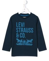 T-shirt à manche longue imprimé bleu marine Levi's