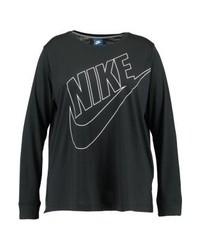 T-shirt à manche longue imprimé bleu marine Nike