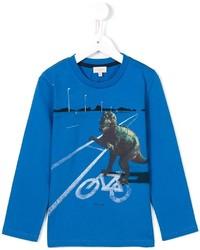 T-shirt à manche longue imprimé bleu Paul Smith