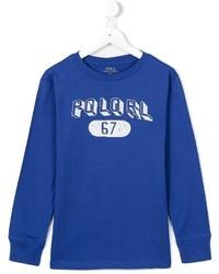 T-shirt à manche longue imprimé bleu Ralph Lauren
